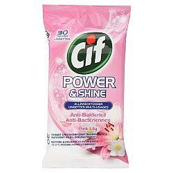 CIF antibakteriálne utierky Ružová ľalia 30 ks