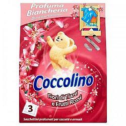 Coccolino vonné vrecúška do šatníka Tiaré flower 3 ks