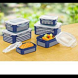 Magnet 3Pagen 12 dielna súprava dóz pre zachovanie čerstvosti modrá-biela