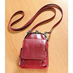 Magnet 3Pagen Kožená kabelka červená