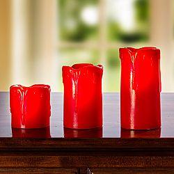 Magnet 3Pagen LED sviečka, červená výška 5cm