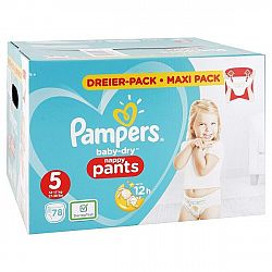 PAMPERS Baby Dry nohavičkové plienky 5 12-17 kg 78 ks