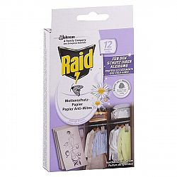 RAID závesné odpudzovače šatových molí 12 ks