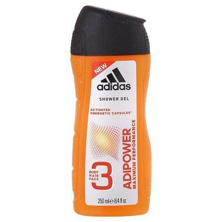 ADIDAS sprchový gél pre mužov Adipower 250 ml