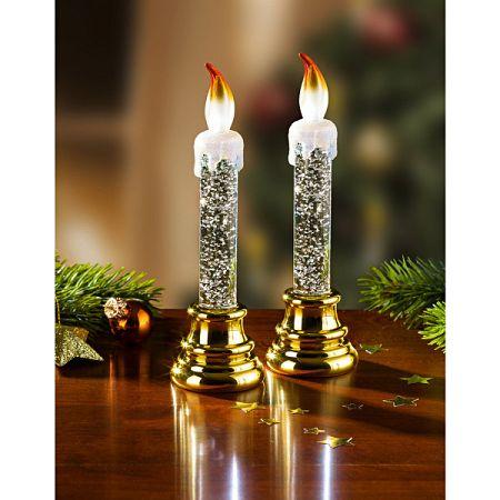 Magnet 3Pagen 1 LED sviečka, zlatistá