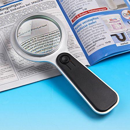 Magnet 3Pagen Lupa s LED osvetlením