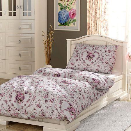 Magnet 3Pagen Obliečky bavlna Provence - Spring rose biela/ružová obliečka na vankúšik 40x40cm