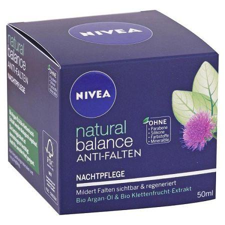 NIVEA nočný krém proti vráskam Natural Balance 50 ml