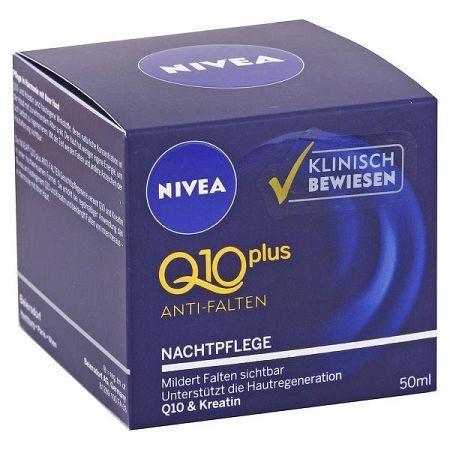 NIVEA nočný krém proti vráskam Q10 Plus 50 ml