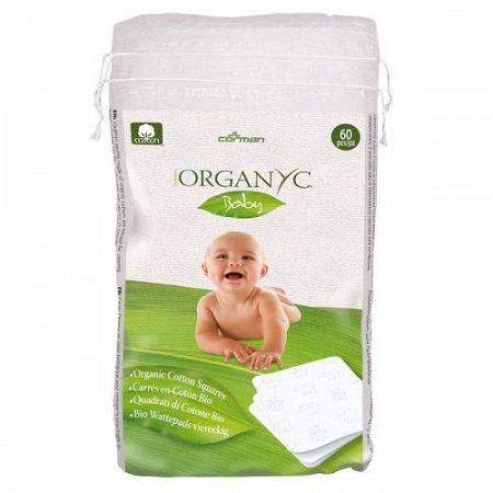 ORGANYC detské štvorcové obrúsky z organickej bavlny 60 ks