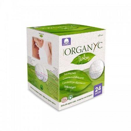 ORGANYC dojčenské prsné tampóny z organickej bavlny 24 ks